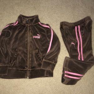 Puma fleece track suit for toddler girl